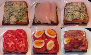 New York Club szendvics összeállítása