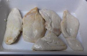 karfiolos csirkemell csirke elhelyezése