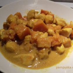 sütőtökös csirkemell, sütőtökös currys csirke