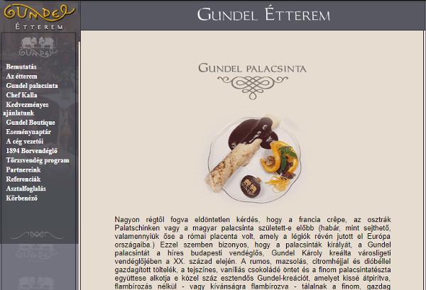 Gundel palacsinta a Gundel étteremben