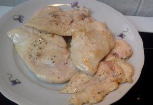 lecsós csirkemell elősütése