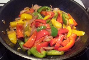 csirke fajitas zöldségek