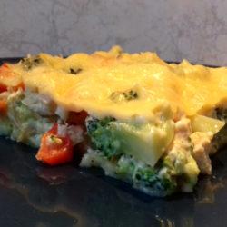 csirkés brokkolis quiche