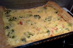 csirkés brokkolis quiche sütőben