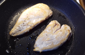 csirkemell elősütése