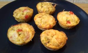 zöldséges tojás muffinok