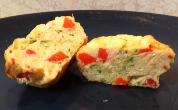 zöldséges tojás muffin