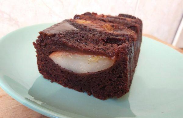 csokis fordított körtés süti