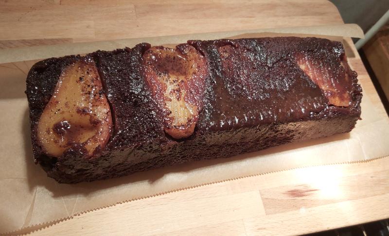karamellás körtés csokis süti