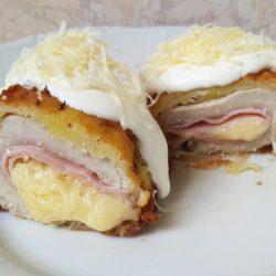 sajttal sonkával töltött mátrai borzaska