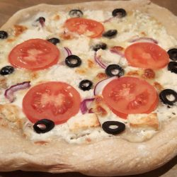 görög pizza recept vega
