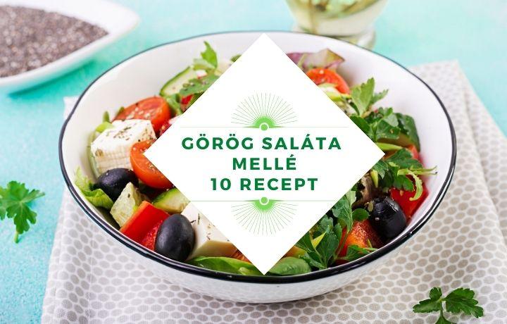 görög saláta mellé hús, köret