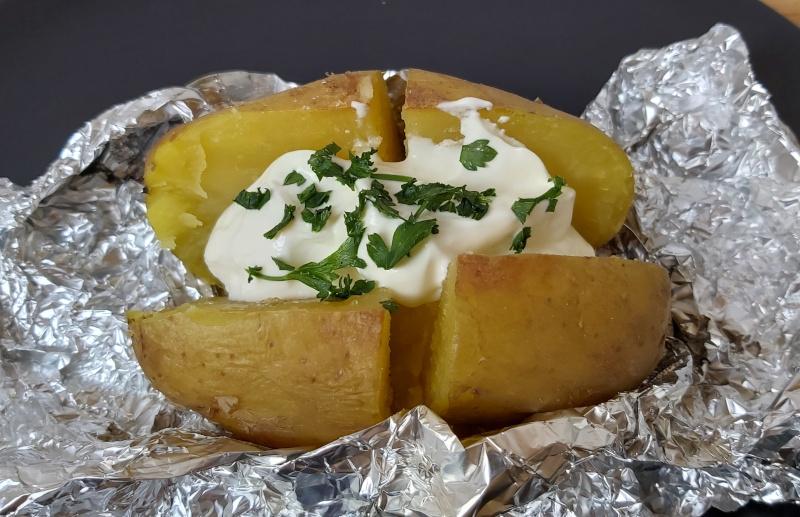 héjában sült krumpli sütőben alufóliában